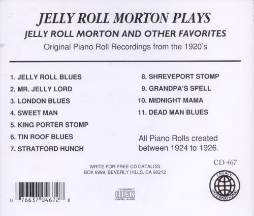 Plays Jelly Roll Morton