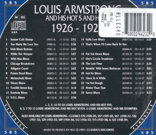 Louis Armstrong & His Hot Five & Hot Seven: 1926-1927