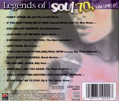 Legends of Music: Soul of the 70s, Vol. 2