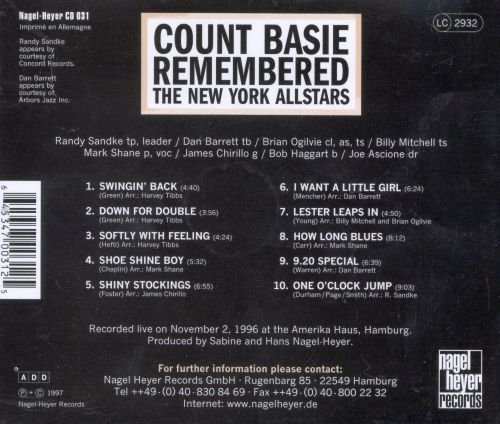 The Count Basie Remembered, Vol. 1
