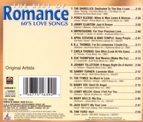 The Best of Romance: 60's Love Songs