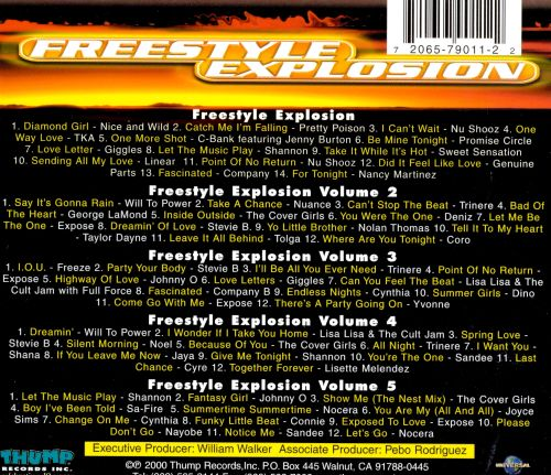 freestyle explosion vol 1 5 various artists songs. Black Bedroom Furniture Sets. Home Design Ideas