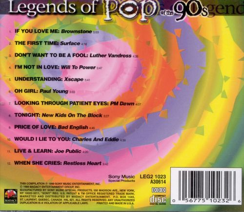 Legends of Music: Pop of the 90s