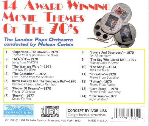 14 award winning movie themes of the 70s london pops
