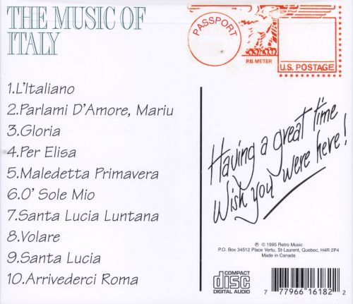 Music of Italy [Passport]