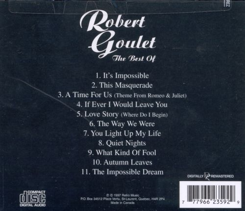 The Best of Robert Goulet [Retro]