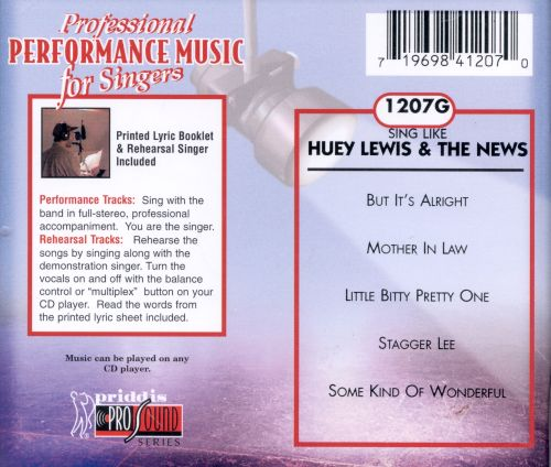 Sing Like Huey Lewis & The News