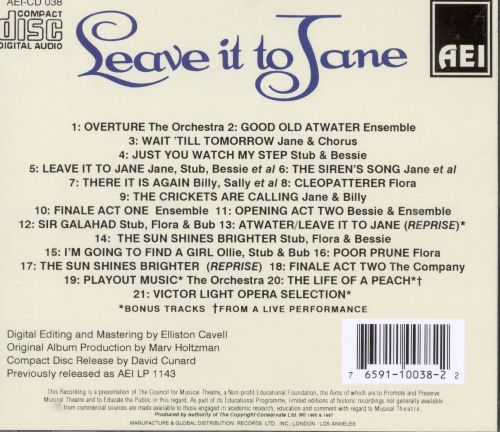 Leave It to Jane [1959 Off-Broadway Revival Cast]