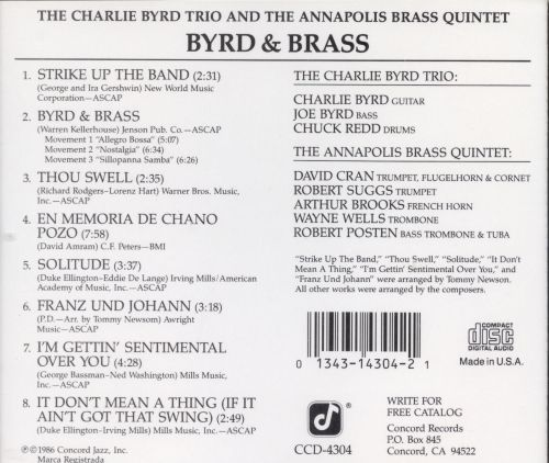 Byrd and Brass