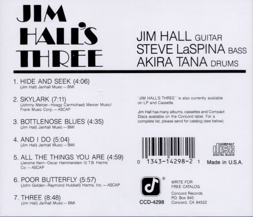 Jim Hall's Three