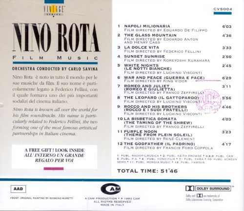 Nino Rota Film Music