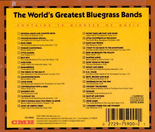 World's Greatest Bluegrass Bands