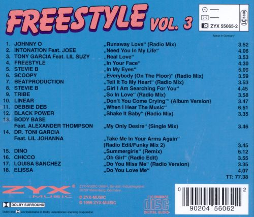 freestyle vol 3 various artists songs reviews. Black Bedroom Furniture Sets. Home Design Ideas