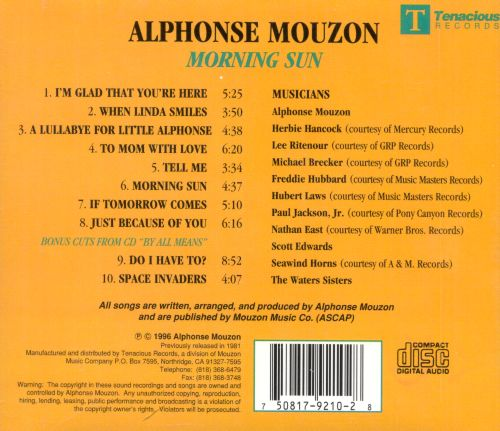 Good Morning Sunshine Jazz : Morning sun alphonse mouzon songs reviews credits