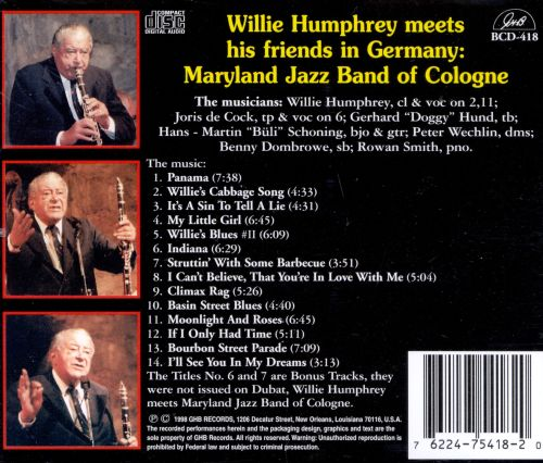 Willie Humphrey Meets the Maryland Jazz Band of Cologne