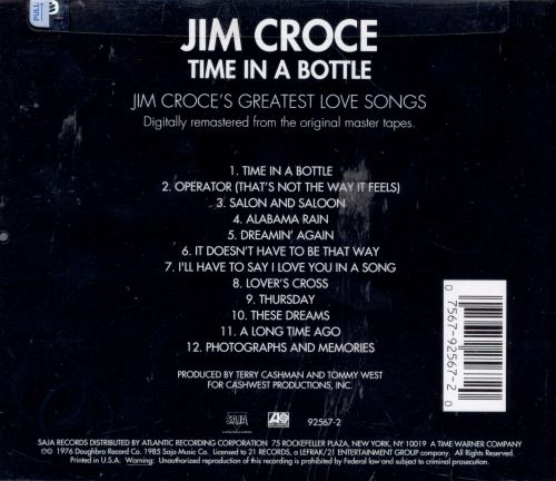 Time in a Bottle/Greatest Love Songs
