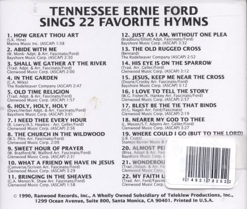 sings 22 favorite hymns tennessee ernie ford songs reviews. Cars Review. Best American Auto & Cars Review