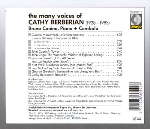 Magnificathy: The Many Voices of Cathy Berberian