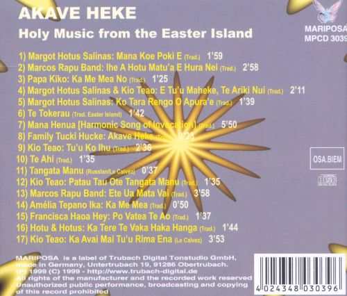 Akave Heke: Holy Music from Easter Island