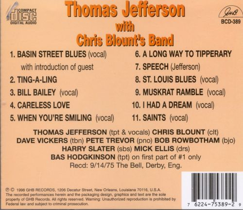 Thomas Jefferson with Chris Blount's Band