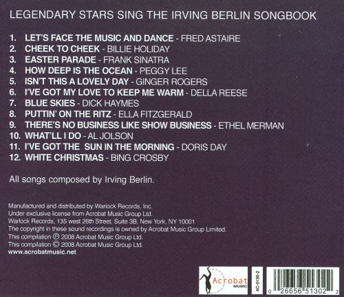 The Legendary Stars Sing the Irving Berlin Songbook
