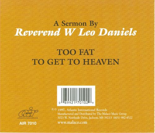 Too Fat to Get to Heaven