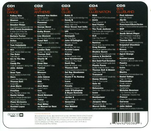 100 anthems 90 39 s dance various artists songs reviews for 90s house music hits