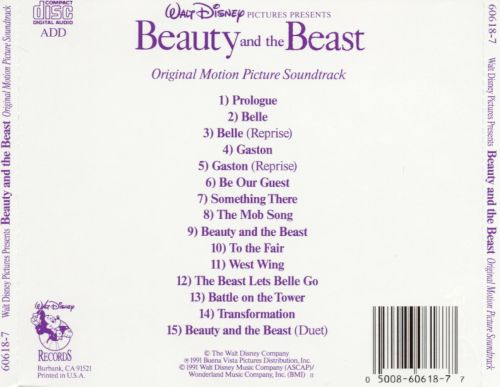 Beauty and the beast songs