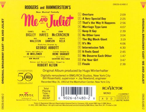 Me and Juliet [Original Cast Recording]