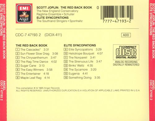 Scott Joplin: The Red Back Book/Elite Syncopations