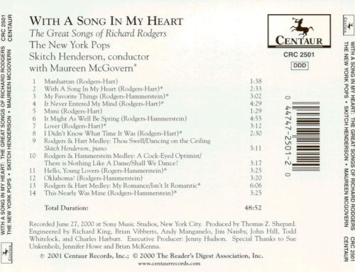With a Song in My Heart: The Great Songs of Richard Rodgers