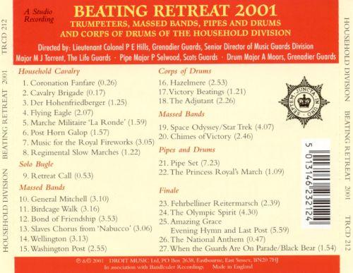Household Division: Beating Retreat 2001