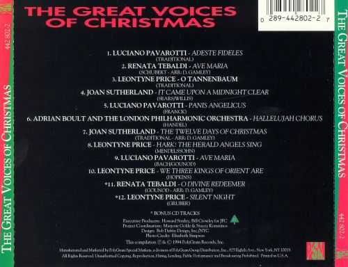 The Great Voices of Christmas [Polygram]