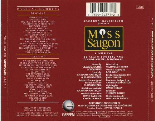 Miss Saigon [Original London Cast Recording]
