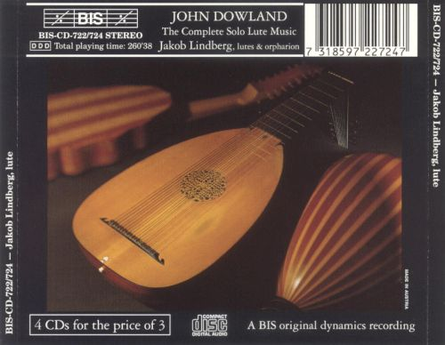 John Dowland: The Complete Solo Lute Music