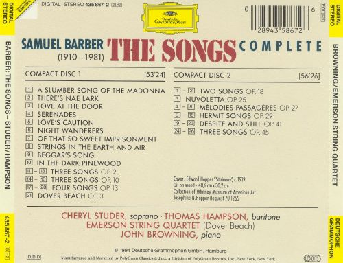 Secrets of the Old: Complete Songs of Samuel Barber