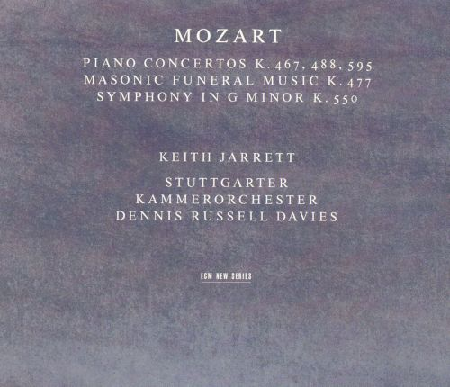 Mozart: Piano Concertos K. 467, 488 & 595; Masonic Funeral Music; Symphony in G minor K. 550
