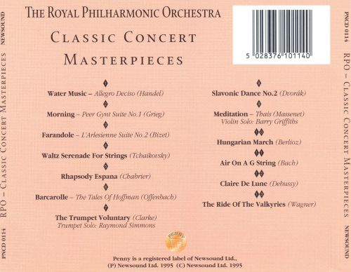 Royal Philharmonic Orchestra Plays Classic Concert Masterpieces