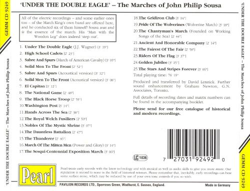 Under The Double Eagle - The Marches of John Philip Sousa