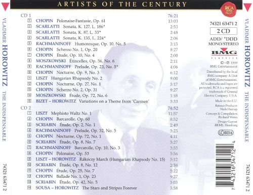 Vladimir Horowitz: The Indispensable