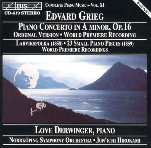 Grieg: Concerto for piano in Am; Small piano pieces EG104/23