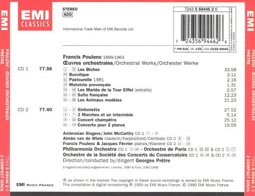 Poulenc: Oeuvres orchestrales
