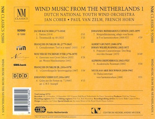 Wind Music from the Netherlands, Vol. 1