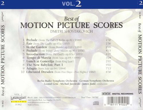 Best of Motion Picture Scores by Dmitri Shostakovich, Vol. 2