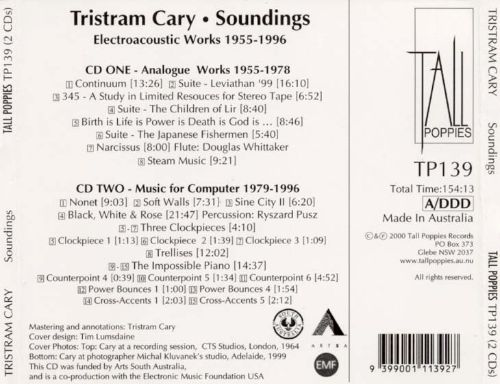 Tristram Cary: Soundings, Electroacoustic Works, 1955-1996