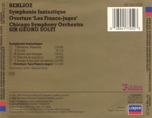Hector Berlioz , Chicago Symphony Orchestra, The* Chicago Symphony Orchesta·, Claudio Abbado - Symphonie Fantastique