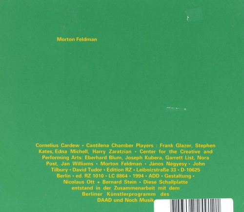 Morton Feldman: Piano (Three Hands)