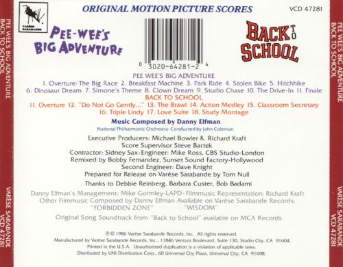 Pee-Wee's Big Adventure/Back to School [Music from the Motion Pictures]