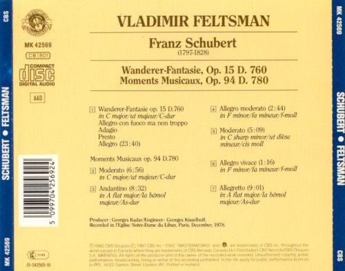 Vladimir Feltsman Plays Schubert