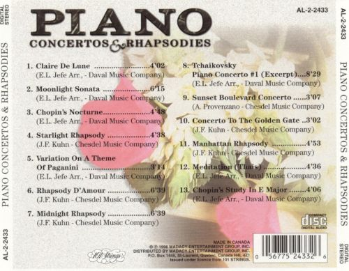Piano Concertos & Rhapsodies